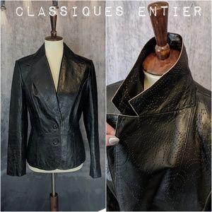 Classiques Entier Vintage leather cutout Jacket 😎